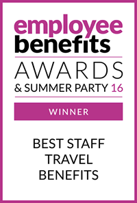 Employee Benefits Awards & Summer Party 16 Winner - Best Travel Benefits
