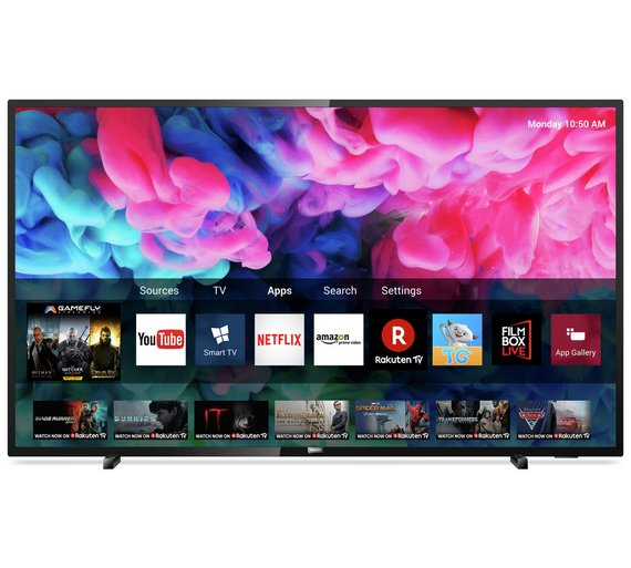 "Philips 50"" Smart UHD TV with HDR"