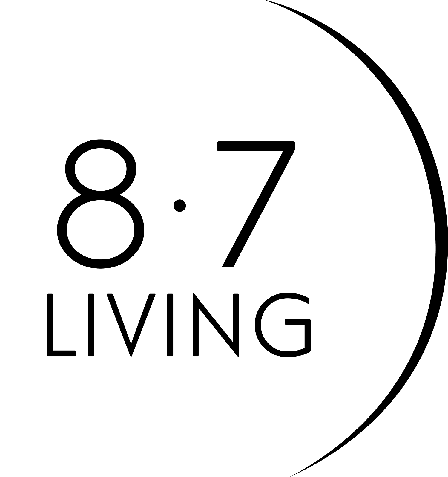 8.7 LIVING logo
