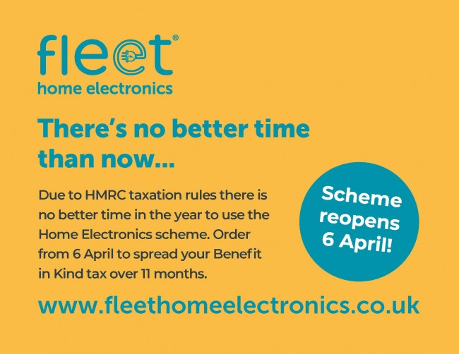 Due to HMRC taxation rules there is no better time in the year to use the Home Electronics scheme. Order from 6 April to spread your Benefit in Kind tax over 11 months.