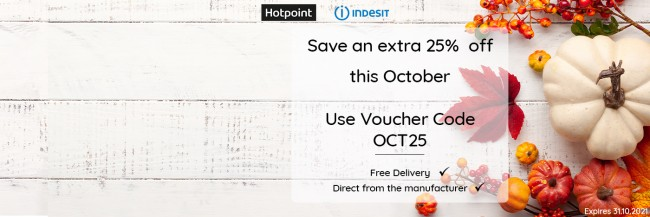 Save an Extra 25% Discount - Hotpoint