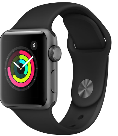APPLEWatch Series 3 - Space Grey & Black Sports Band, 38 mm