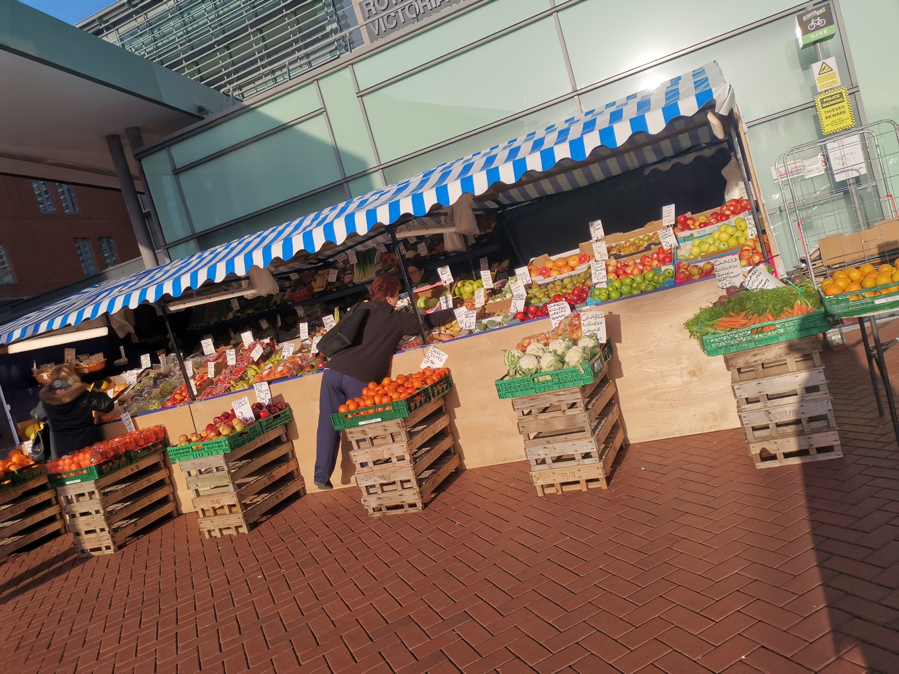 Photograph of fruit and vegetable stall
