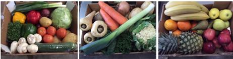 Picture of salad, vegetable and fruit boxes